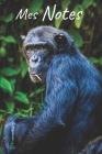 Mes notes: Carnet de Notes Chimpanzé, Singe - Format 15,24 x 22.86 cm, 100 Pages - Tendance et Original - Pratique pour noter des Cover Image