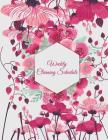 Weekly Cleaning Schedule: Cute Pink Flowers, Household Chores List, Cleaning Routine Weekly Cleaning Checklist Large Size 8.5