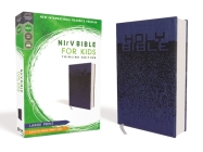 Nirv, Bible for Kids, Large Print, Leathersoft, Blue, Comfort Print: Thinline Edition Cover Image