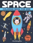 Space Coloring Book for Kids Ages 4-8: A Funny Outer Space Coloring with Planets, Rockets, Astronauts, Space Ships Fox Giraffe Parrot Llama and More Cover Image