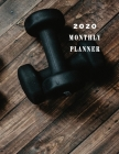 Monthly Planner 2020: Organizer To do List January - December 2020 Calendar Top goal and Focus Schedule Beautiful Cover Design with Wooden b Cover Image