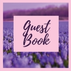 Premium Guest Book- Lavender Field - For any occasion - 80 Premium color pages - 8.5 x8.5 Cover Image