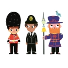 London Stationery: Character Print x3 (Marion Billet's London Stationery Range) Cover Image