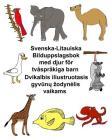 Svenska-Litauiska Bilduppslagsbok med djur för tvåspråkiga barn Cover Image