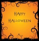 Happy Halloween, Guest Book, Party Guest Book, Wedding, Celebration, Memories, Keep Sake (Hardback) Cover Image