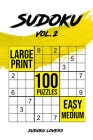 Sudoku Large Print: 100 Easy and Medium Puzzles Cover Image