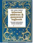Celestial Large-Format Internet Address & Password Logbook Cover Image
