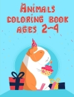 Animals coloring book ages 2-4: Christmas Book, Easy and Funny Animal Images (Adventure Kids #18) Cover Image