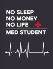No Sleep No Money No Life Med Student: Composition Notebook Journal 100 Pages.. Medical Student Book Gift For a Future Doctor in Medical School Cover Image