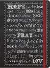 Hope, Pray, Love- Inspirational Message Blank Journals: Impulse Journals Cover Image
