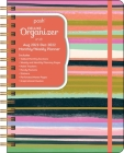 Posh: Deluxe Organizer 17-Month 2021-2022 Monthly/Weekly Planner Calendar: Brushstroke Stripe Cover Image