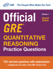 Official GRE Quantitative Reasoning Practice Questions, Second Edition, Volume 1 Cover Image