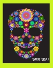 Sugar Skull Fluorescent Green Journal: 8 1/2 x 11 Sugar Skull Composition Book Mexican Skull Day of the Dead Skull Book or Journal Cover Image