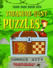 Treasure Hunt Puzzles: Engage Your Brain to Work Through These Awesome Adventure Puzzles, Under the Sea, to the Moon and More. Cover Image
