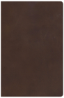 KJV Super Giant Print Reference Bible, Brown Genuine Leather, Indexed Cover Image