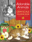 Adorable Animals Grayscale Coloring Book Cover Image