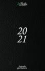 Agenda 2021 Giornaliera: 12 mesi 1 pagina per giorno con orari e calendario 2021 Formato medio (15,24 x 22,86 cm) Colore nero Cover Image