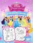 Princesses Coloring Book: Jumbo Princess Coloring Book For Kids Ages 3-9 Cover Image