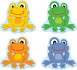 Funky Frogs Shape Stickers Cover Image