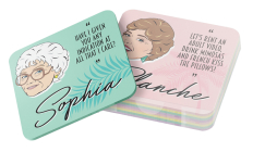 The Golden Girls Drink Coasters: 8 Cork Coasters Cover Image