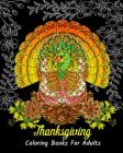 Thanksgiving Coloring Books For Adults: Stress Relieving Thanksgiving Designs, Beautiful Thanksgiving Drawings Cover Image