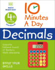 10 Minutes a Day Decimals, 4th Grade Cover Image