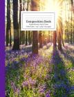 Composition Book Purple Flowers, Sun and Trees Wide Ruled Cover Image