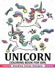 Unicorn Coloring Book for girls: A Super Cute Coloring Book (Kawaii, Manga and Anime Coloring Books for Adults, Teens and Tweens) Cover Image