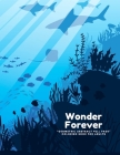 Wonder Forever: GEOMETRIC ABSTRACT FULL PAGE Coloring Book for Adults, FULL-PAGE Activity Book, Large 8.5x11, Ability to Relax, Brain Cover Image