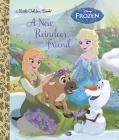 A New Reindeer Friend (Disney Frozen) (Little Golden Book) Cover Image