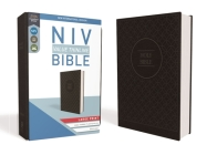 NIV, Value Thinline Bible, Large Print, Imitation Leather, Gray/Black Cover Image