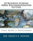 45 Business School (MBA) Recommendation Letters: That Made a Difference Cover Image