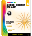 Spectrum Critical Thinking for Math, Grade 4 Cover Image