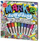 Marker Everything-Activity Bk [With 8 Permanent Mini Markers] Cover Image