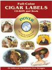 Full-Color Cigar Labels [With CDROM] (Dover Full-Color Electronic Design) Cover Image