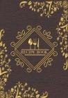 Recipe book: Recipe binder: Elegant recipe holder to Write In Recipe cards, chic Food Graphics design, Document all Your recipe box Cover Image
