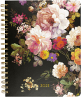 2021 Midnight Floral Desk Calendar Cover Image