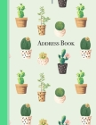 Address Book: Succulent Plants Cover Address Book 8.5 x 11inch Large Alphabetical Contacts Phone Book Organizer Cover Image