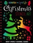 Scratch and Sparkle Christmas Stencil Art Cover Image
