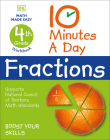 10 Minutes a Day Fractions, 4th Grade Cover Image