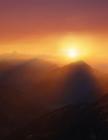 Notebook: sunrise mountains sunset sun nature sky mountain beautiful Cover Image
