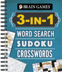 Brain Games - 3-In-1: Word Search, Sudoku, Crosswords Cover Image