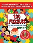 100 Puzzles: Sequence and Reasoning Growth and Mindset Large Print Focus Cover Image