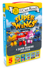 Super Wings: A Super Reading Collection: Cold Feet, A Super First Day, Lost Stars, Shark Surf Surprise, Airport Adventure (My First I Can Read) Cover Image