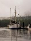 Notebook: ship fishing trawler prawn fish ships marina port harbor Cover Image