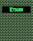 120 Page Handwriting Practice Book with Green Alien Cover Ethan: Primary Grades Handwriting Book Cover Image