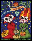 Halloween Darlings: Cute, Whimsical and Fun Halloween Trick or Treaters to color. Perfect Halloween Coloring fun for all ages. By Deborah Cover Image