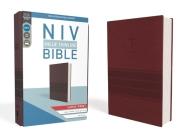 NIV, Value Thinline Bible, Large Print, Imitation Leather, Burgundy Cover Image