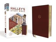 Niv, Halley's Study Bible, Leathersoft, Burgundy, Red Letter Edition, Comfort Print: Making the Bible's Wisdom Accessible Through Notes, Photos, and M Cover Image