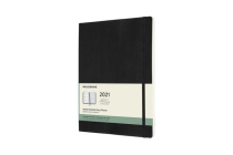 Moleskine 2021 Weekly Planner, 12M, Extra Large, Black, Soft Cover (7.5 x 9.75) Cover Image